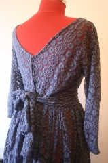 Dark blue lace 50s party dress by Dido Suu